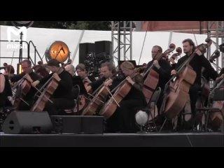 Пианист Денис Мацуев с оркестром Юрия Башмета исполнили We Will Rock You и музыку Чайковского