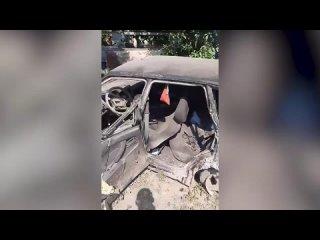 Авто попало под поезд в Крыму