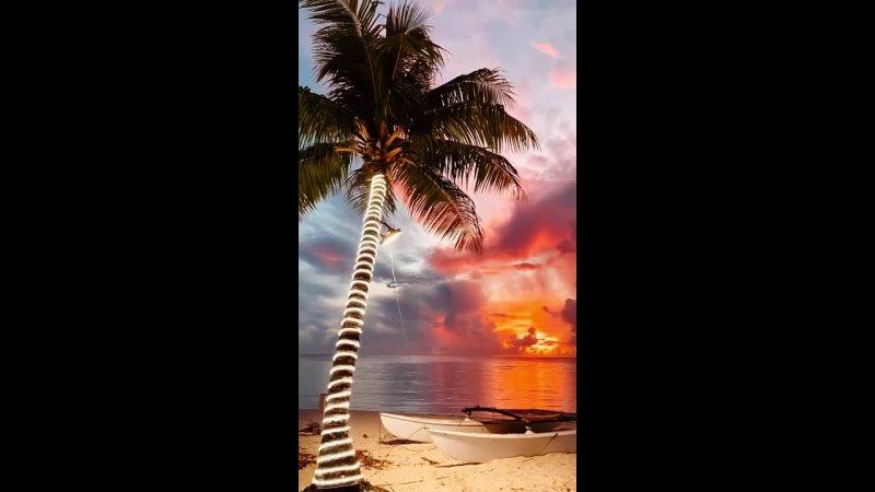 Закат на Сайпане Тихий Океан
