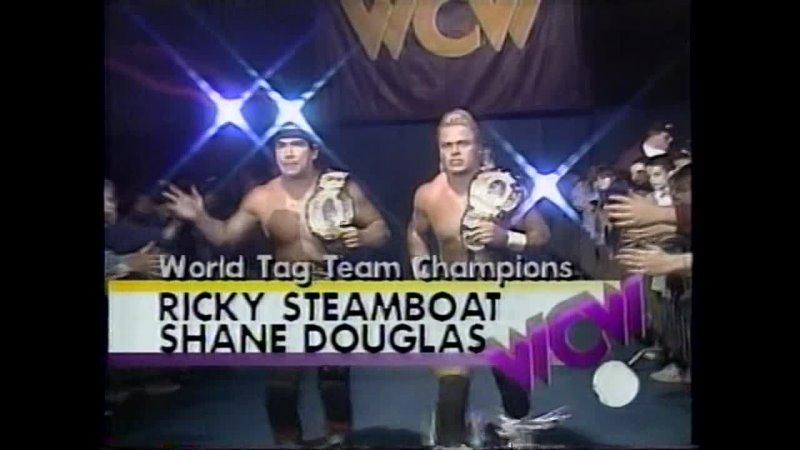 01 02 Flyin'Brian Barry Windham VS Shane Douglas Ricky Steamboat