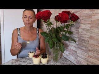 Десерт в СТАКАНЧИКАХ ДЫННЫЙ МУСС с ягодами Легкий летний десерт ВКУСНО