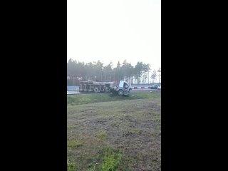 Две фуры столкнулись в Выборгском районе – трассу ...
