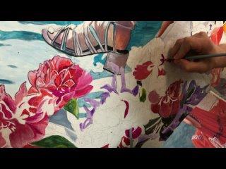 Отрывок из рисования росписи на стене