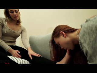 Blonde gets her feet and perfect ass licked by female slave