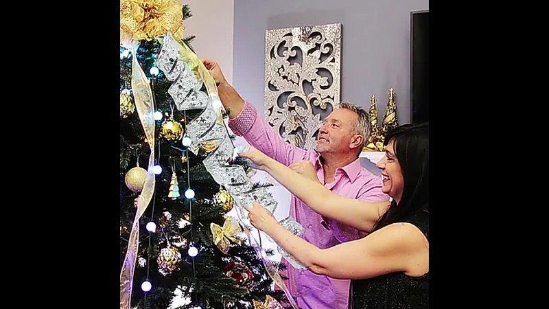 Гирлянда с s образной лентой для украшения рождественской елки