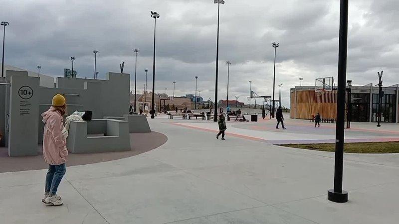 Площадка для паркура в Экстрим парке Урам в Казани
