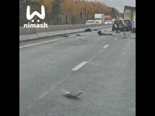 Массовая авария недалеко от поворота на Дзержинск ...