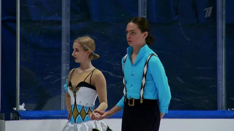 Танцы на льду Произвольный танец Любляна Гран при по фигурному к 720 X 1280
