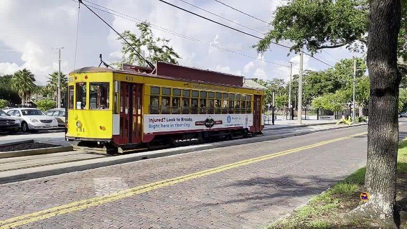 Трамвайный антиквариат по американски Tampa city Florida