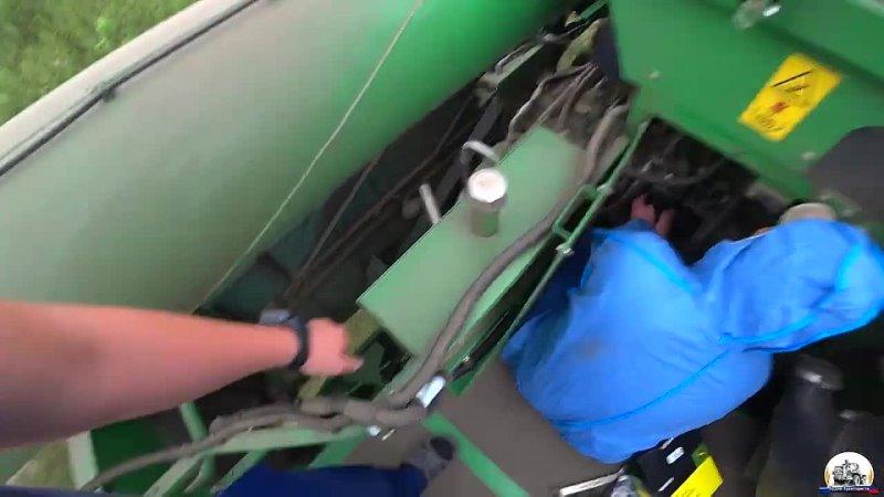 Будни Тракториста Уборочная 2021 Работа с прицепом перегрузчиком с тремя комбайнами John Deere S660 S670