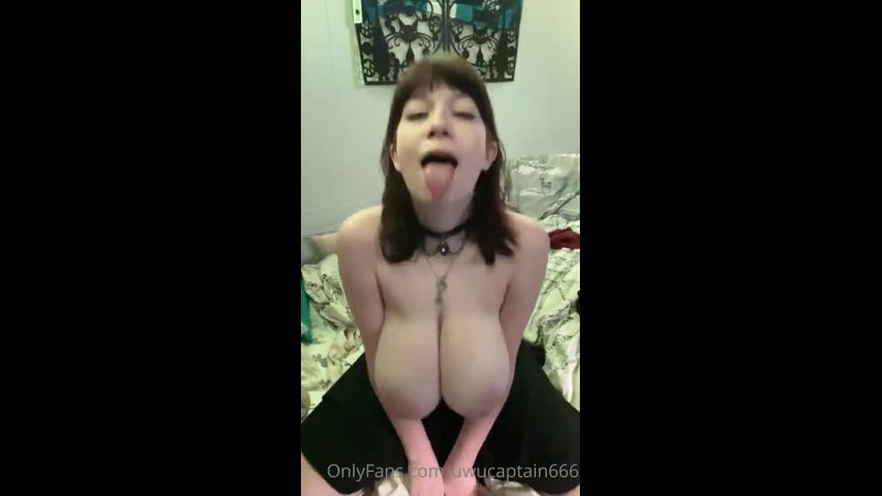 Big tits girl playing with her boobs naked french huge titties goth bitch sexy beautiful