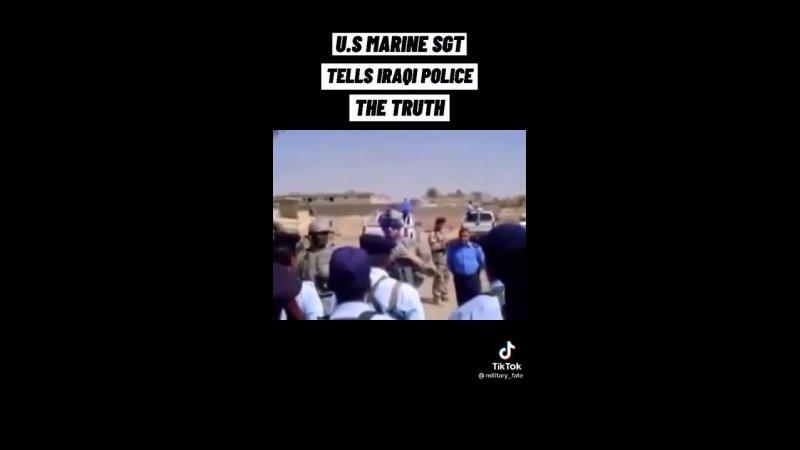 Американский морпех отчитал иракскую полицию