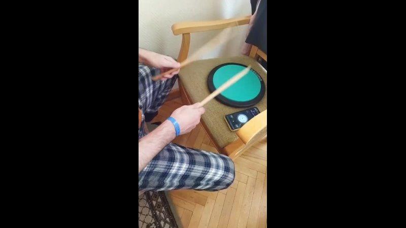 Combination of single anb double stroke roll