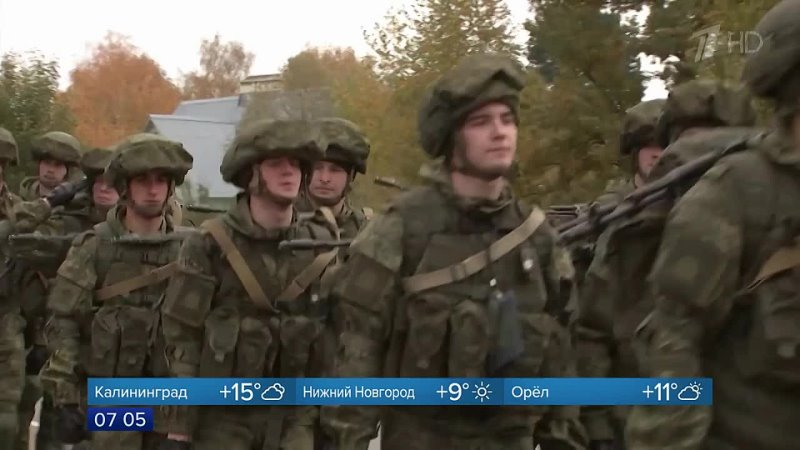 В Московской области стартовал марш кремлевских курсантов