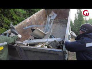 👏🏻260 кубометров мусора вывезли со стихийной свалк...