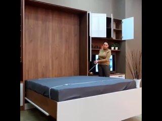 Шкаф-кровать трансформер с ТВ модулем  II Duma Mebel, Москва
