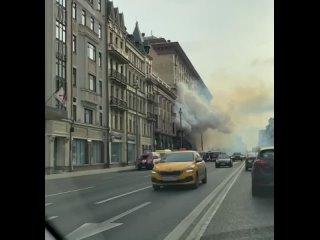 На Тверской улице случилось возгорание дома старой...