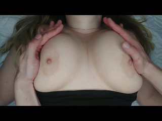 Touch her big boobs
