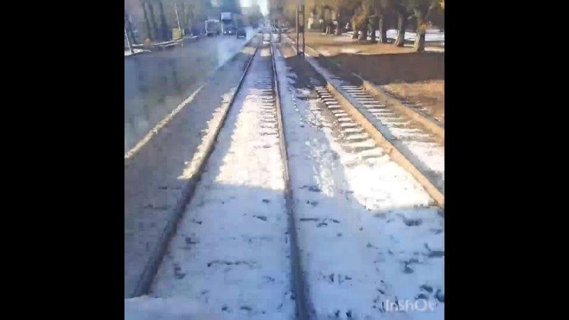Челябинский трамвай 2021 Маршрут 18 СМЕ 2167 2110