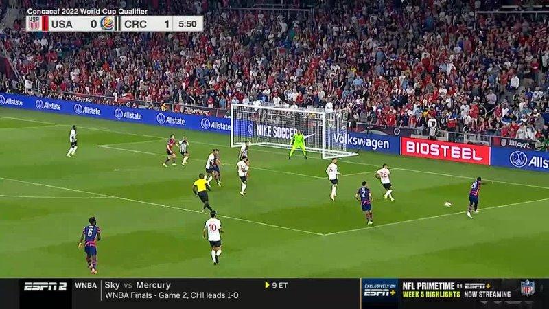 США Коста Рика Отбор на ЧМ 2022 3 раунд 6 тур