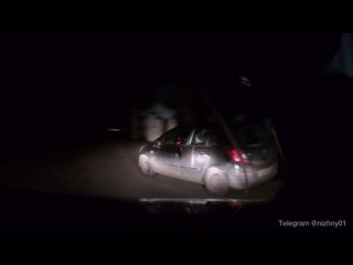 Кадры полицейской погони в Богородске.Пьяный водит...