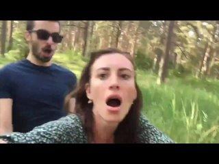 Незнакомый парень трахает русскую женщину раком в лесу (Минет анал шлюха проститутка шалава частное Russian Public outdoors sex