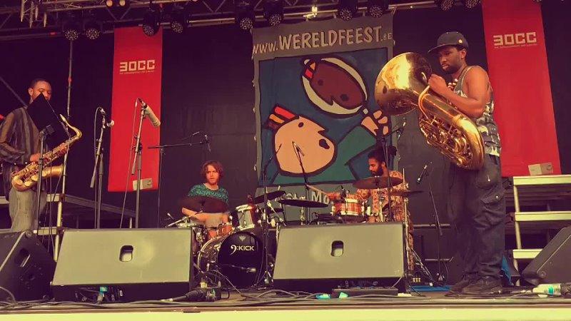 09 Sons of Kemet with Godfather at Wereldfeest Leuven 03 06 17