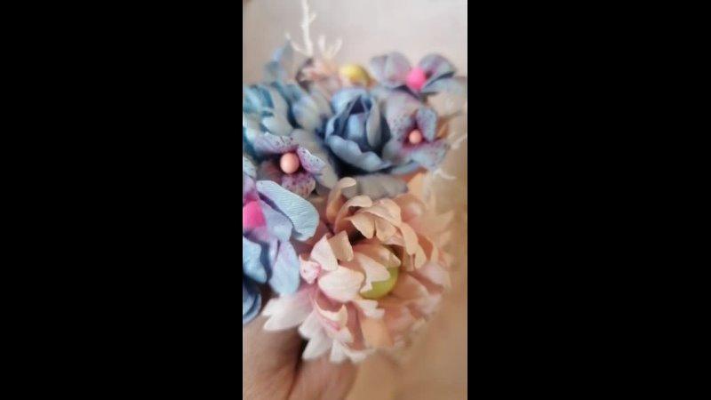 Тканевые цветы