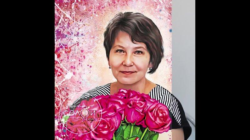 Видео от Печать фото на холсте Оренбург Студия Селфи