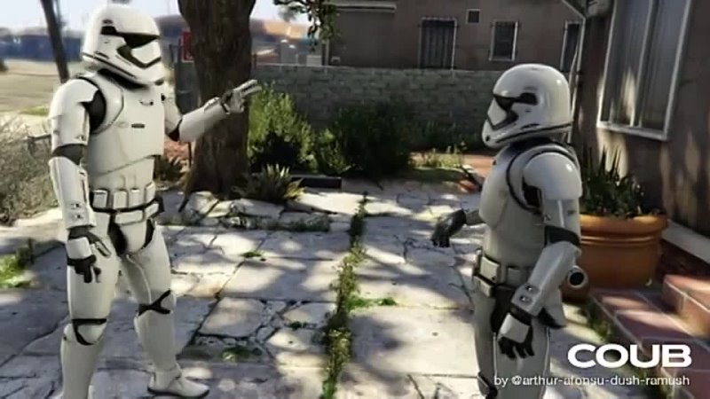 GTA V A Stormtrooper Roasts another Stormtrooper Lamar roasts Franklin meme