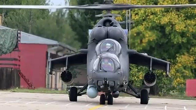 Совместные экипажи вертолетов Ми 35 отработали тактические приемы боевого применения по наземным целям