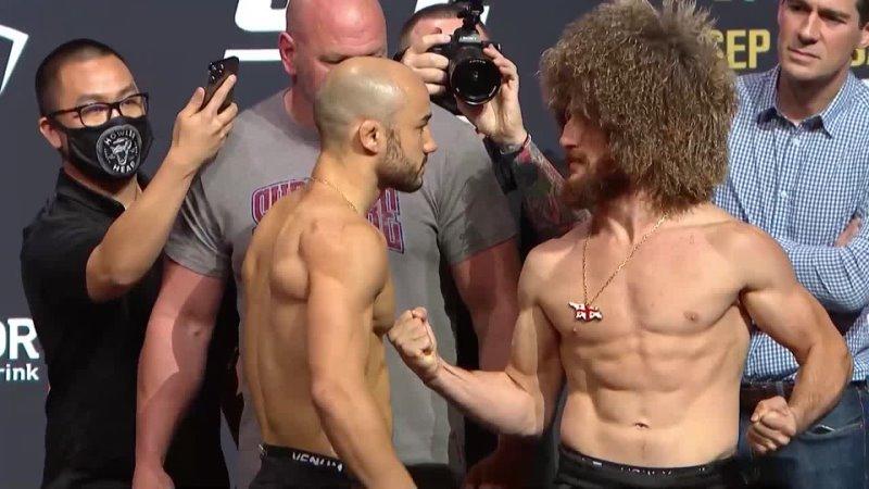 Марлон Мораес vs Мераб Двалишвили Битва взглядов перед UFC 266