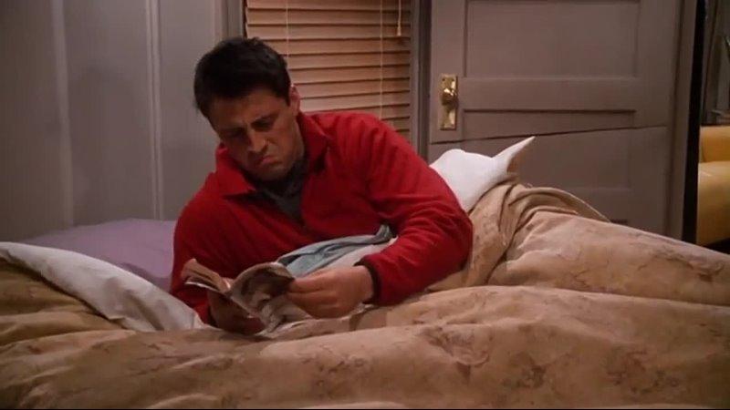 Сериал Друзья Джоуи читает книгу Рэйчел