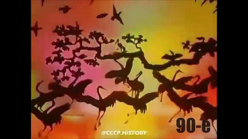 Фрагмент телепepeдачи В миpe животных 1989г
