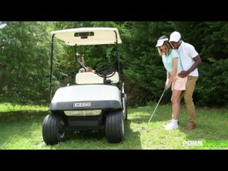 Francys Belle - Hole in 1 Gold Coach Uses his Big Black Driver to Make Francys Belle Squirt Hard