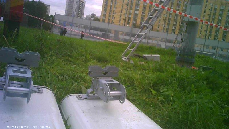 Монтаж оборудования на опору на Дунайском проспекте в г Ленинграде