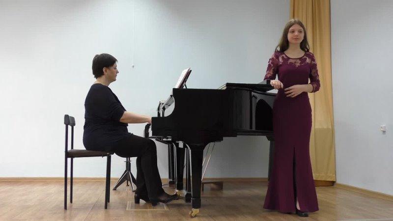 Варвара Ботика В Моцарт Ария Барбарины из оперы Свадьба Фигаро