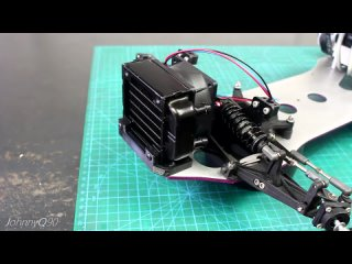 JohnnyQ90 FOUR Cylinder 1/6th Scale RC Car Build - Cooling, Electronics, Mods & FIRST Test!