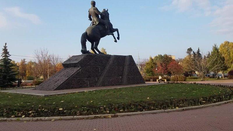 1812 Сквер Ермолова памятник растения деревья кинотеатр Октябрь Заводской район город Орёл