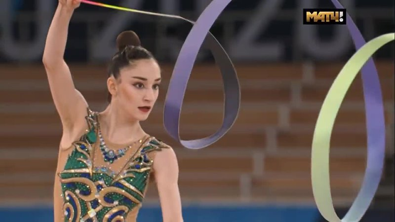 Алина Адилханова лента многоборье Олимпийские Игры Токио 06 08 08 21