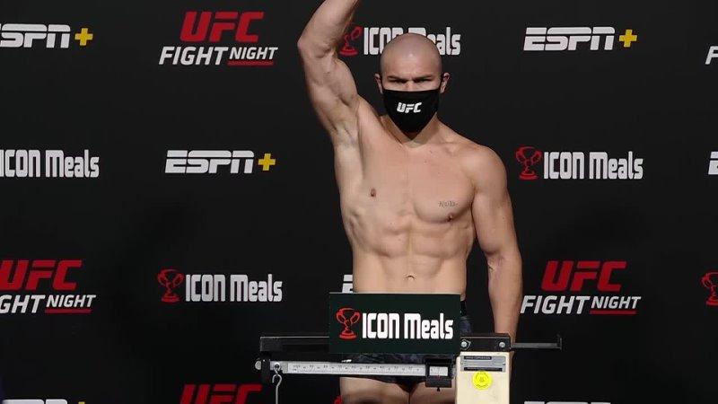 Ион Куцелаба Взвешивание перед UFC Вегас 37