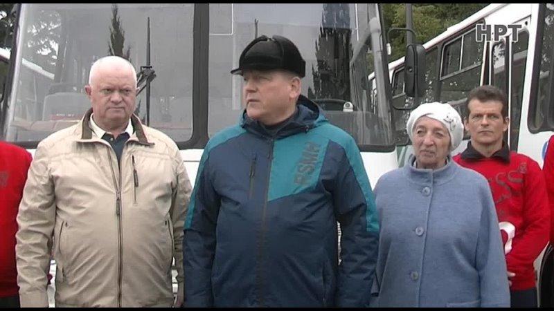 НРТ Новости Вручение новых маршрутных автобусов