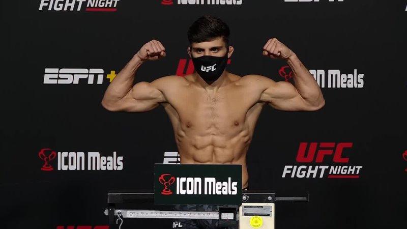 Арман Царукян Взвешивание перед UFC Вегас 37