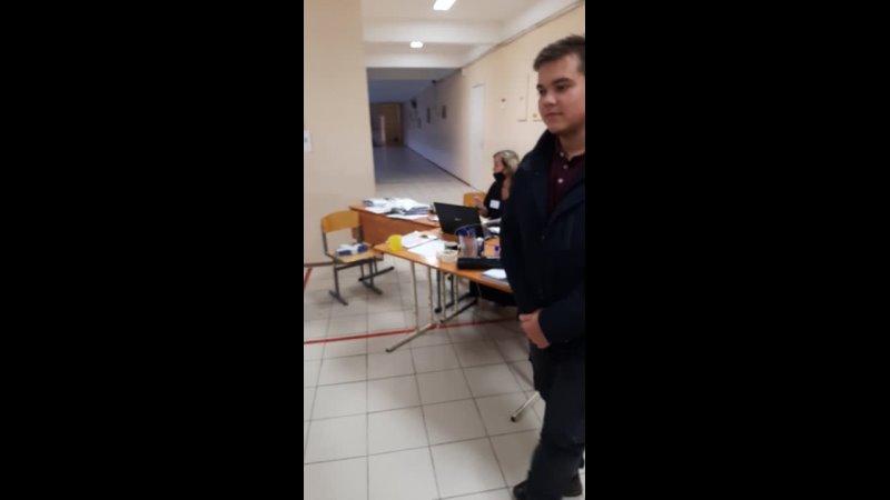 Выборы 19 09 21 УИК 506 СПб 2 бандита едроса блокируют работу члена комиссии