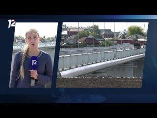 В Калачинске запустили движение по новому мосту через Омь...
