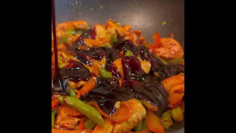Хозяйка большого дома Рецепты и советы Индейка с овощами в соусе терияки 😍