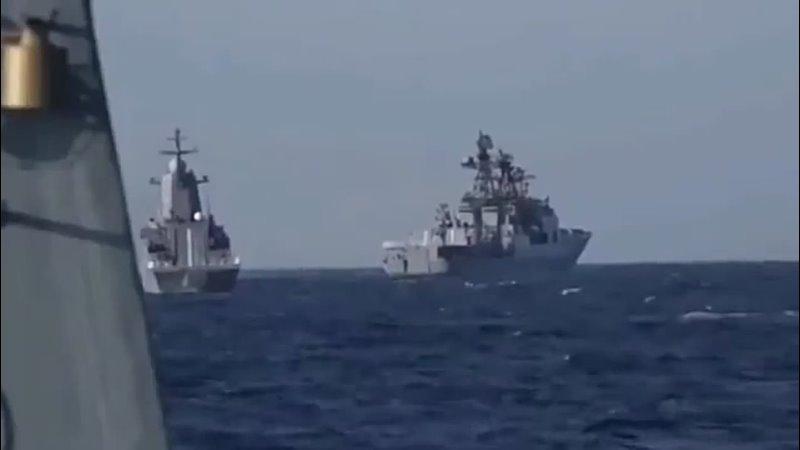В акватории Японского моря завершаются совместные российско китайские военно морские учения