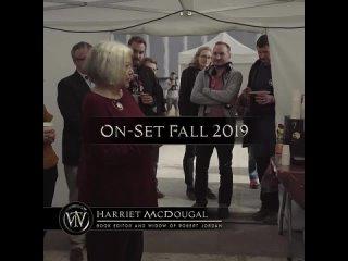 Речь Харриет Макдугал на съемочной площадке Колеса Времени и слова актеров.