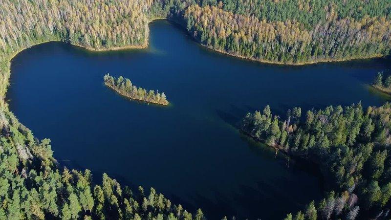 Озеро Глубелька и Глубля Голубые озёра Мядельский район