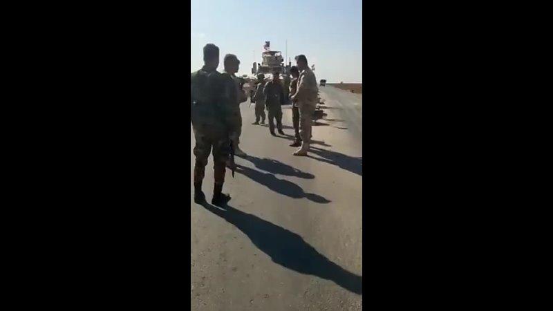Очередной конвой американских военных блокирован в районе Камышлы